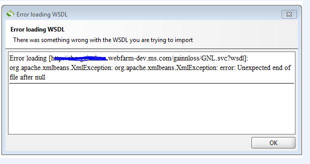 Solved: Error in loading wsdl file - SmartBear Community