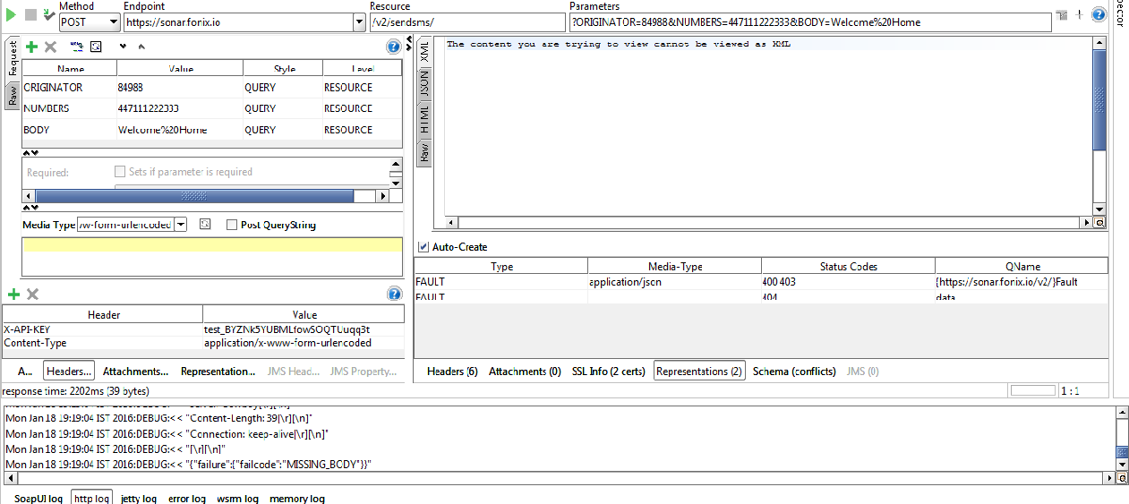 Re: how to pass data in the form of x-www-form-url    - SmartBear