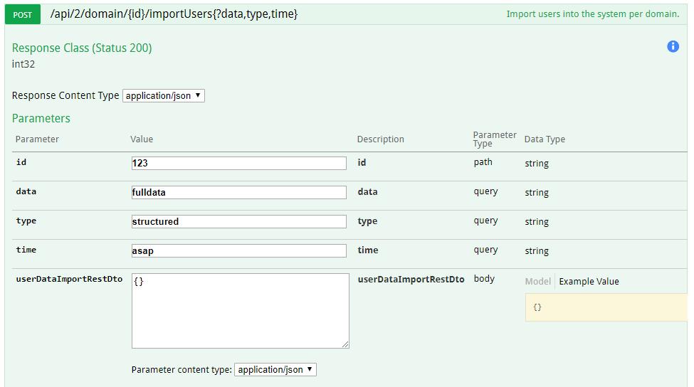 Swagger UI documentation