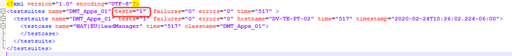 Summary XML provided by /ExportSummary