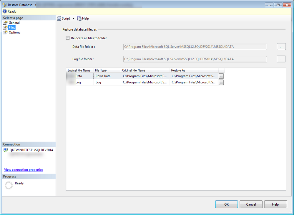Solved: Restoring SQL db quickly through TestComplete