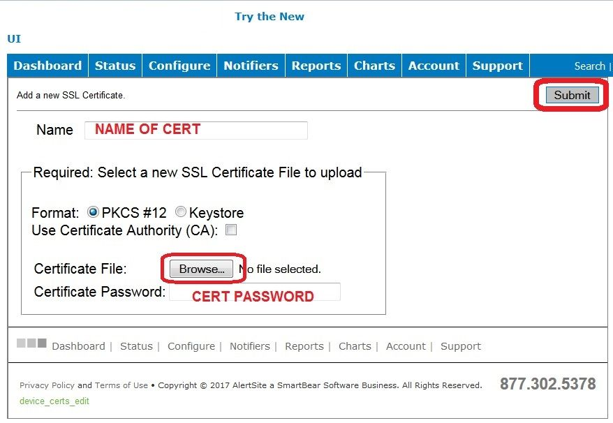 How To Upload An Ssl Certificate For Your Updown Smartbear