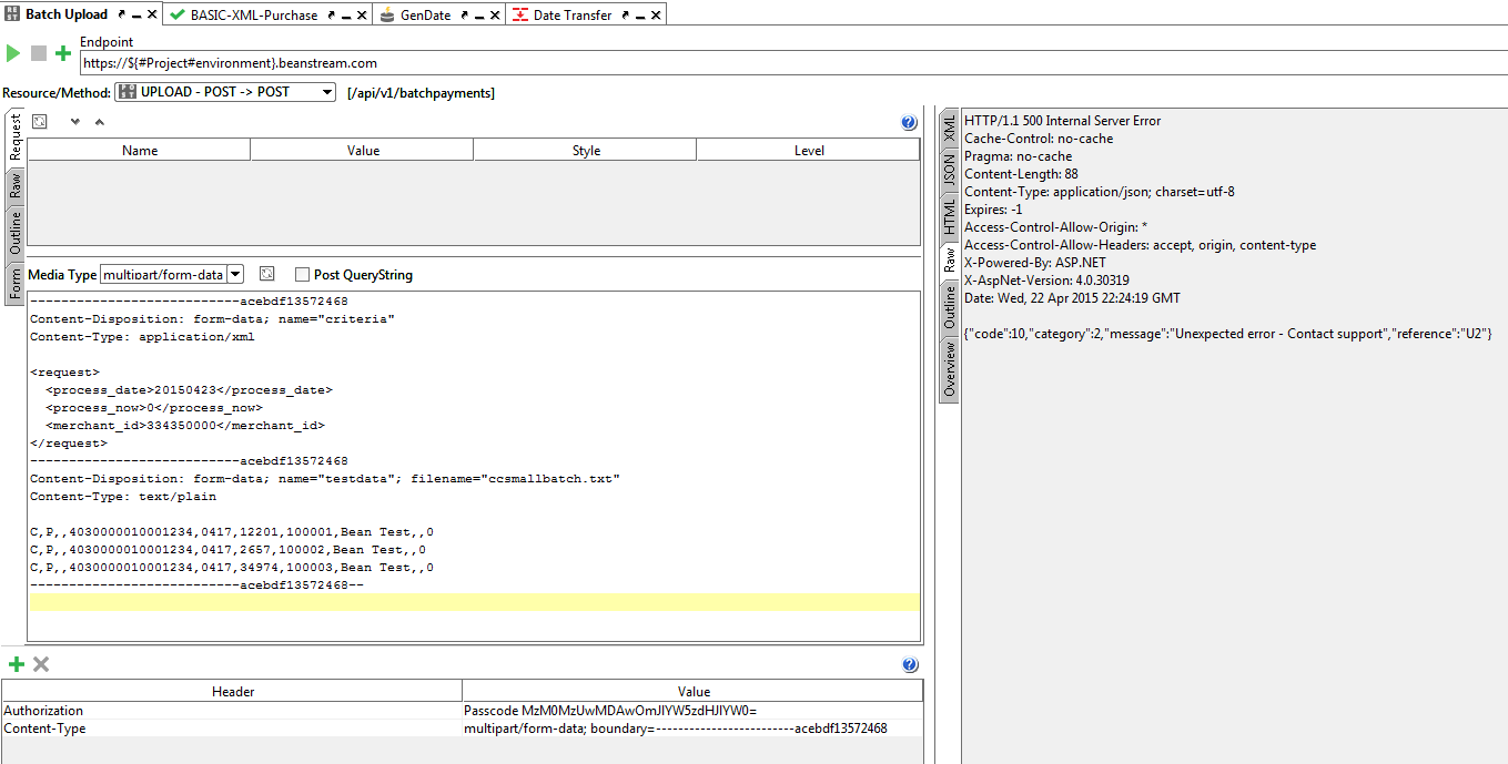 multipart/form-data w/ boundaries - request failin    - SmartBear