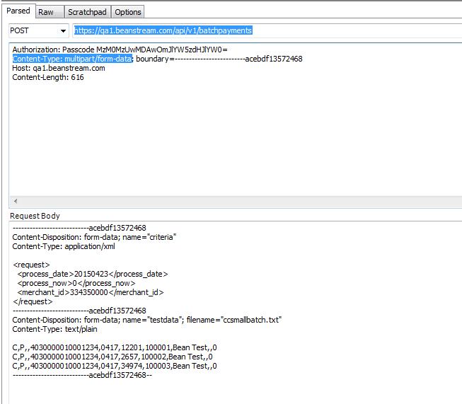 multipart/form-data w/ boundaries - request failin