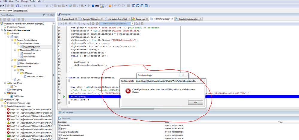 Executing MySQL query to fetch records - SmartBear Community