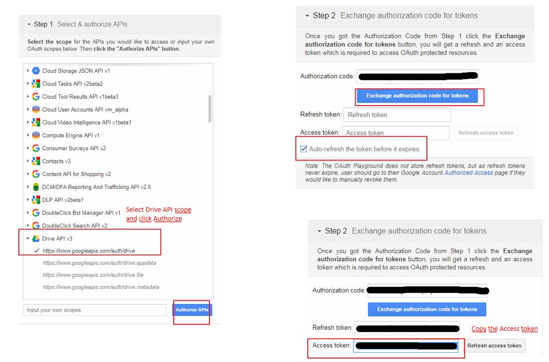 Rest request with OAuth for Google Drive API - SmartBear