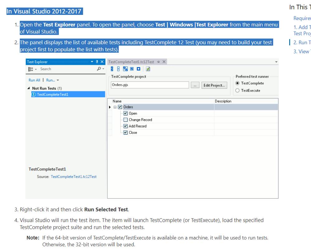visual studio test complete integration - SmartBear Community