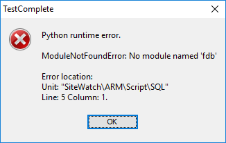 Solved: WinError 193 after latest TestComplete update, pyt
